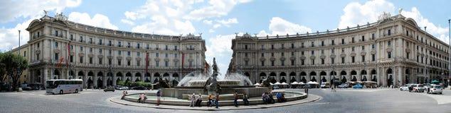 View of Rome city Piazza della Reppublica on June 1, 2014 Stock Image