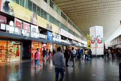 View of Rome city Termini station on June 1, 2014 Stock Photos