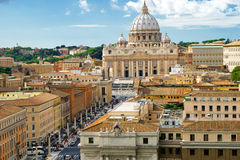 View of Rome cityscape, Basilica of St. Peter. Italy Royalty Free Stock Photo