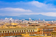 View of Rome cityscape before rain Stock Photo