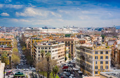 View of Rome cityscape before rain, Italy Royalty Free Stock Image