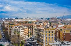 View of Rome cityscape before rain, Italy Stock Photography