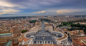 View of Rome from Dome of Saint Peter Basilica Stock Images