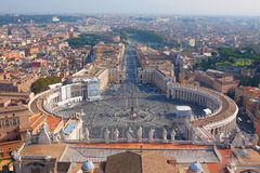 View of Rome from the Dome of St. Peter's Basilica Stock Images