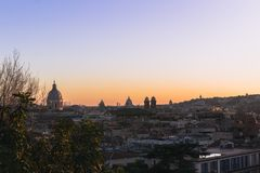View of Rome at the end of the afternoon royalty free stock photos