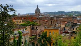 View of Rome, Italy from Piazza del Popolo Stock Photos