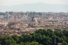 View of Rome from Janiculum Hill Royalty Free Stock Image