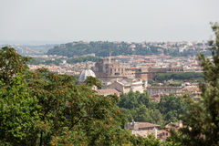 View of Rome from Janiculum Hill, Royalty Free Stock Photography