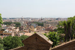View of Rome from Janiculum Hill Royalty Free Stock Photo