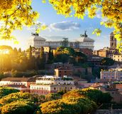 Vittoriano in the autumn Royalty Free Stock Photos