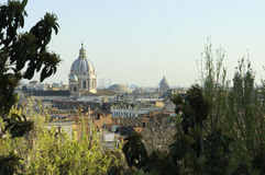 View of Rome  from Pincio hill Stock Photos