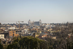 View of Rome  from Pincio hill Stock Photo