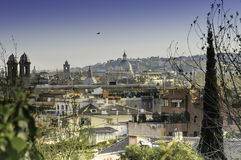 View of Rome from Pincio hill Stock Images