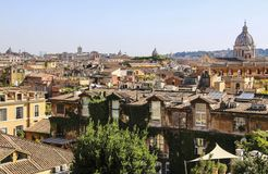 View of Rome from the Pincio Hill, Rome, Italy royalty free stock photo