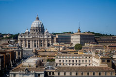 View of Rome and of Saint Peter Basilica, Italy Royalty Free Stock Photo