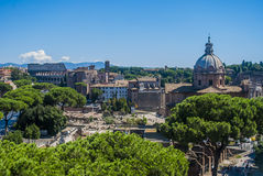 View of Rome from the top Stock Photos