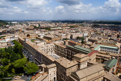 View of Rome from the top of Saint Peter Basilica Royalty Free Stock Photo