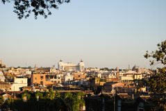 View of Rome from Villa Borghese Royalty Free Stock Images