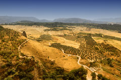 View from Ronda Andalucia, Spain Stock Images