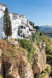 View of Ronda, Andalusia Spain. On a hot summer afternoon Stock Photos