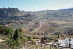 View upon Ronda areal Stock Images
