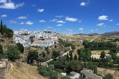 View at Ronda. From old town royalty free stock photos