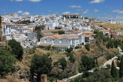 View at Ronda. From old town royalty free stock photography