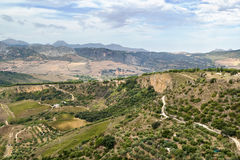 The view from Ronda, Spain Stock Photography
