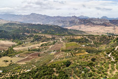 The view from Ronda, Spain Stock Images