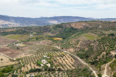The view from Ronda, Spain Royalty Free Stock Photo