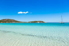 View of Rondinara beach in Corsica Island in France stock images