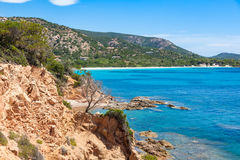View of Rondinara beach in Corsica Island in France Stock Image
