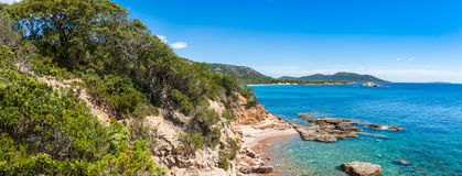 View of Rondinara beach in Corsica Island in France Royalty Free Stock Photography