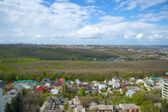 View from the roof of the building of the city of Stavropol, Russia Stock Images