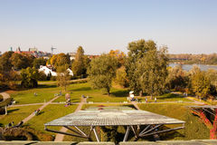 View from the roof garden of University Library, Warsaw Stock Photos
