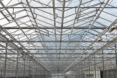 View at the roof of a greenhouse Stock Photo