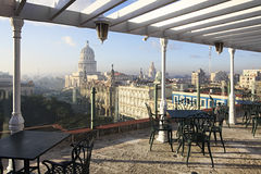 View from the roof of the hotel at the Capitolio. View from the roof of the NH Parque Central at the Capitolio. Havana. Cuba Royalty Free Stock Image