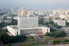 View from roof of hotel Ukraina. Moscow. White house. Stock Photography