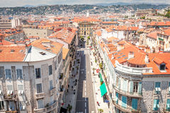 View from the roof of the Mamac museum in Nice Royalty Free Stock Photo