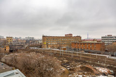 View from the roof of Mechanized Bakery No. 9 in Moscow, Russia Stock Photo