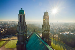 View from the roof of the National Basilica of the Sacred Heart Koekelberg in Brussels, Belgium Royalty Free Stock Photography