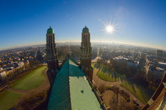 View from the roof of the National Basilica of the Sacred Heart Koekelberg in Brussels, Belgium Stock Images