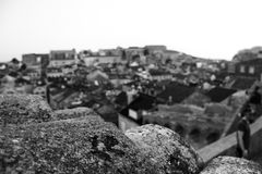 View from the roof. The view from one of the highest points in Dubrovnik old town Stock Image