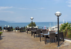 View from the roof. A restaurant. Turkey Royalty Free Stock Images
