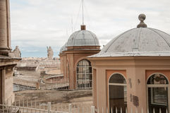 A view from the roof of the Saint Peter`s Basilica. Stock Images