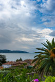 The view from the roof small old town on Lake Royalty Free Stock Image