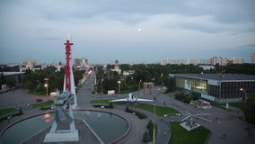 A view from a roof of Space pavilion on of VDNKh stock footage