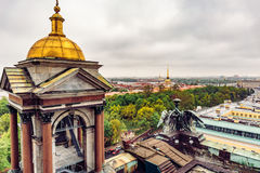 View from roof of St. Isaac`s Cathedral, Saint Petersburg. Russia Stock Images