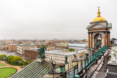 View from roof of St. Isaac`s Cathedral, Saint Petersburg Stock Photography