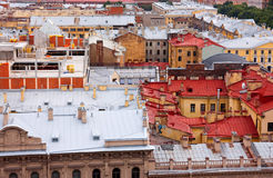 View of the roof of St. Petersburg Royalty Free Stock Photography